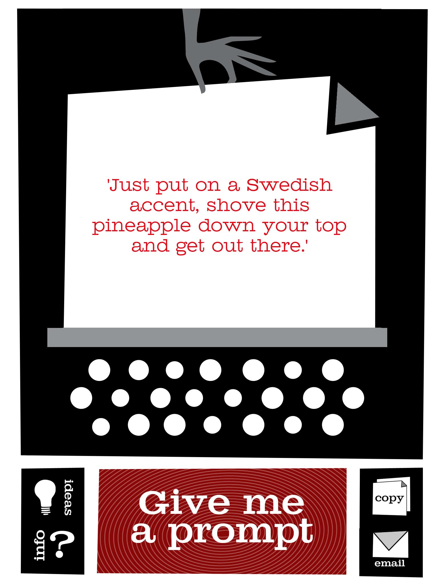 random creative writing prompt generator